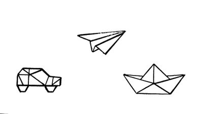 Travel the world by car, plane and ship. Need a better origami car but for now this will do. #tinytattoos #sketch #travel #origami #drawing #tattooidea