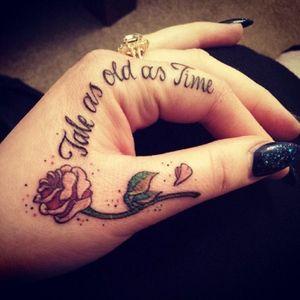#handtattoo #beautyandthebeast #cute