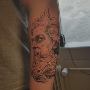 Another Poseidon. Done in 3,5 hours. #poseidontattoo #Poseidon #godofthesea #godtattoo
