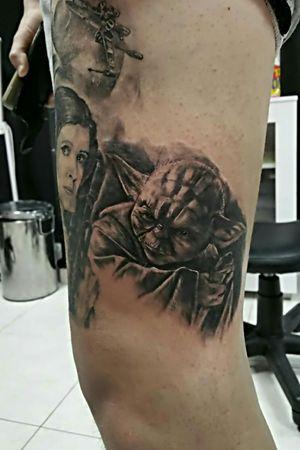 #Yoda #starwars #jedi #princessleia #tattooocto #VictorFrausto #Olhão