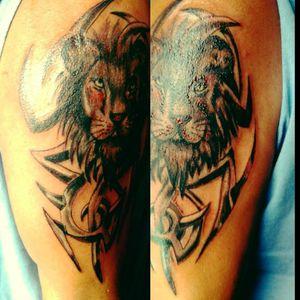 Tattoo unterarm frau löwe