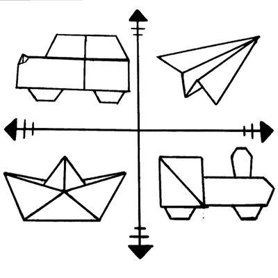 Travel tattoo design #travel #tattoodesign #origami #compass #plane #boat #train #car #simplistic #minimalistic
