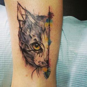 客人的爱宠 喜欢量身定制的纹身就来加我吧 sasha1225tattoo Wechat