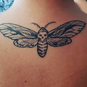 #butterflytattoo #neck #mothtattoo
