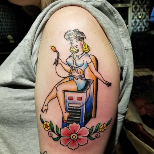 Welder pin-up done by Adrian. . . . #pinupgirl #InkedGirls #GirlsWithInk #GirlsWithTattoos #TattooedGirls #ColorTattoos #Tattoo #Tattooed #TattooArt #Inked #InkAddict #InkStagram #TattooMagazine #InkedUp #UplandTattoos #InlandEmpire #InlandEmpireTattoos #Upland #UplandTattooShop #UplandCA #CustomTattoo #BlackRoseSocialClub #DowntownUpland #Socal #SouthernCalifornia #Ontario #RanchoCucamonga #Claremont #Montclair
