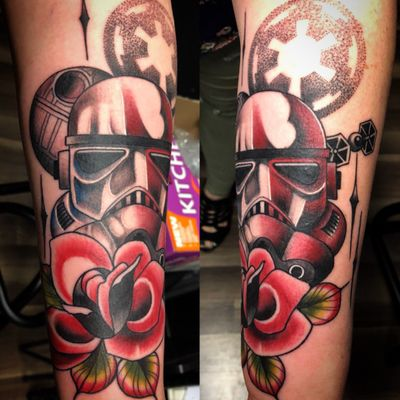 Traditional rose with stormtrooper done by Greggo. . . . #starwars #stormtrooper #rose #TraditionalTattoo #BoldWillHold #InkedGirls #GirlsWithInk #GirlsWithTattoos #TattooedGirls #Tattoo #Tattooed #TattooArt #Inked #InkAddict #InkStagram #TattooMagazine #InkedUp #UplandTattoos #InlandEmpire #InlandEmpireTattoos #Upland #UplandCA #UplandTattooShop #CustomTattoo #BlackRoseSocialClub #DowntownUpland #ColorTattoos #Socal #SouthernCalifornia #Ontario #RanchoCucamonga #Claremont #Montclair