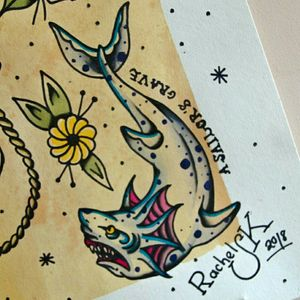 A sailor's grave 🦈 Diseño disponible! Tengo muchas ganas de tatuar esta pieza así que la dejo barata barata! Pregunta por privado sin compromiso. Para citas o consultas: ▪️ rachelsk08@gmail.com ▪️ 659121943 (whatsapp) #tattoo #tattoos #traditionaltattoo #brightandbold #oldschool #oldschooltattoo #tatuaje #madridtattoo #ladytattooers #besttradtattoos #thebestapintattooartist #tattoooftheday #besttattoos #oldworkers #oldlines #trflash #inkstagram #inked #shark #sharktattoo #asailorsgrave #flashworkers @flashworkers @flashaddicted @traditional_flash #trditionalclub @traditionalclub