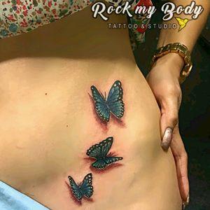 #butterflytattoo #3dtattoo #3D