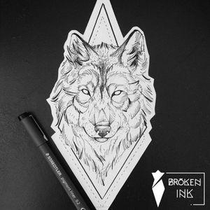 #wolf #wolftattoo #ink #brokenink