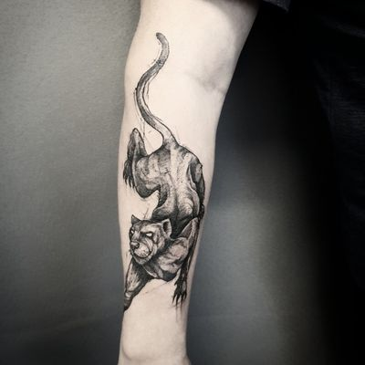 Black panther. #blackwork #panther #cat