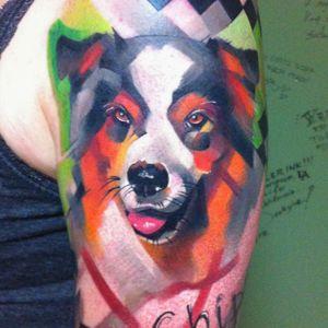 #ivanabelakova #dog #pettattoo #animal #watercolor