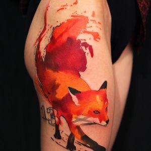 #IvanaBelakova #graphic #fox tattoo