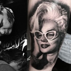 #portrait #blackandgrey #MarilynMonroe #MattJordan
