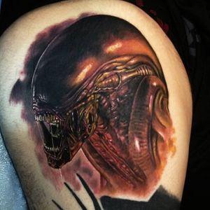 #realistic #Alien #portrait #color #PaulAcker