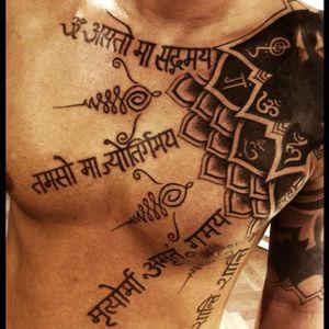 #Sanskrit #calligraphy #blackwork #unalome #om