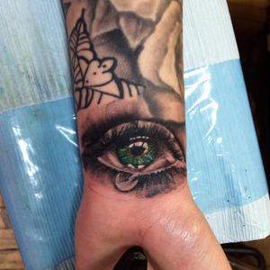 Beautiful crying eye #eye #green #crying #sad #art