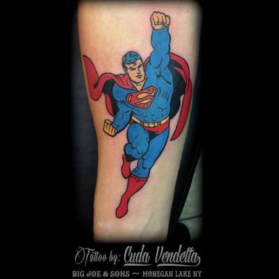 Vintage Superman tattoo by Cuda Vendetta #vintage #superman #cudavendetta