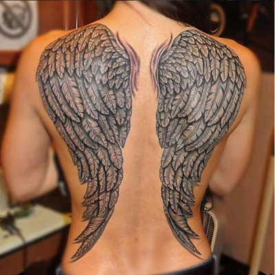 We are available All Day For #Piercing #Tattoo #Clothing #TattooNy #PiercingNy #TattooNewYork #PiercingNewYork #Backstage #Palisades #Mall #WestNyack #NewYork #Ny #wings #back #blackandgrey #angel