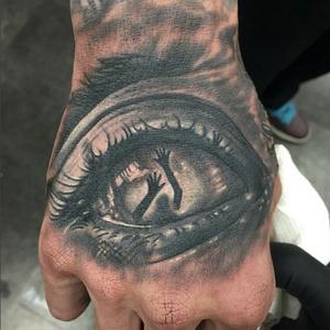 #TBT by Vinny #contemporarytattoo #statenisland #tattooartist #tattooist #vindfect #eye #blackandgrey