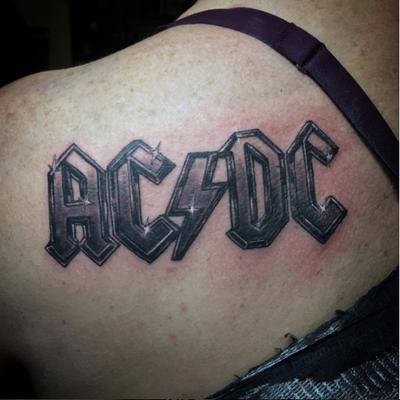 AC/DC TATTOO I did yesterday. #rock #acdc #newyork #inkbybuster #inkbustertattoo #ronkonkoma #newyork #art #tattooart