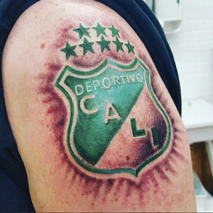 Insane Soccer Patch! Done by INK FLOW Tattoos artist KRYS MORE at our Washington heights studio! #inkflowwork #soccer #soccerpatch #inkflowtattoos #nyc