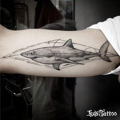 Entre em contato conosco. Artista: Marcelo Maciel #ledstattoo #tubarao #tattootubarao #shark #sharktattoo #blackwork #blackworkers #ledstattoosp #brasil #saopaulo