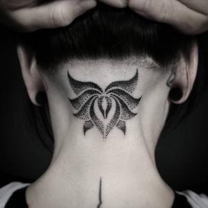Lotus flower dotwork by Andi, restless #lotus #dotwork #floral #flower
