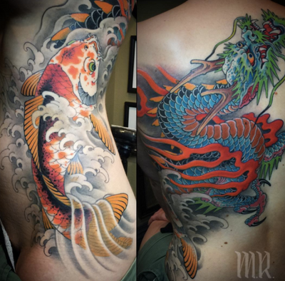 @mikerubendall #dragon #koi #japanese