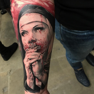 #jacobcrookedmoon @jacobpedersen Done at London tattoo convention 2017
