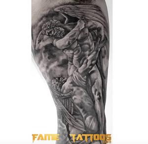 Statue tattoo Done Here at💥 @FAMETATTOOS.💥 🌟COME CHECK OUT THE BEST TATTOO SHOP IN MIAMI.🌟 #tattoo #tattoos #tattooed #tattoolife #tattooedlife #tattooedguys #tattooedgirls #tattoocommunity #tattoolovers #ink #inked #inkedup #inklife #inkedlife #bodyart#amazingink#inkedup#miamitattoos #miami#besttattoosinmiami #miamitattoos