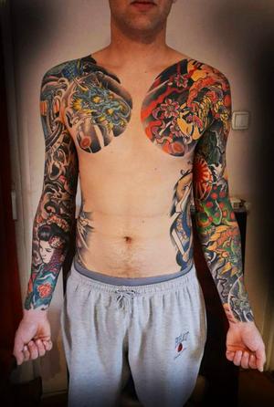 Japanese piece #worldfamousink #tattoosociety #aberdeentattoo #Aberdeen