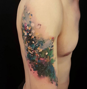 Abstract oilpainting tattoo #abstract #oilpainting #experimentalism #crazyytattoos #inkedmagazine #inkedmag #superb_tattoos #superbtattoos #tattoolifemagazine #tattooartistmagazine #tattooistartmagazine #tattooistartmag #worldofartists #evolvedmagazine