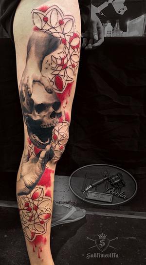 Done at Berlin tattoo convention,best of day 😎 #blackandgray #bnginksociety #inkedmag #skinartmag #superbtattoos #sublimevilla #silverbackink