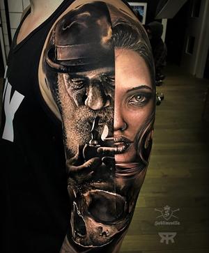 Awesome realism tattoo by @emanueloliveira_tattooart #realistictattoo #sullentv #inkedmag #goldenstatetattooexpo #tattedskin #TogetherWeRise #nyempirestatetattooexpo #savemyink #thebesttattooartists