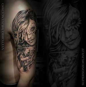 Work done at the @milanocityink ...thank you guys...see you soon! #blackngrey #blackandwhite #tattoos #tatts #tattoo #milanocityink #hustlebutterdeluxe #dermalizepro #fortestancil #polynesianink #taurus_cartridges #ipowertattoo