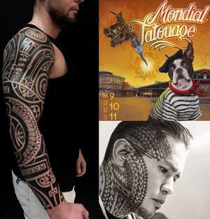 Next Tattoo Convention Paris 9/10/11 march @mondialdutatouage for info and appointment santos@santostattoo.com #paris #mondialdutatouage #francetattoo #tatouage #tatouages #tatouagepolynesien #tatouagemarquisien