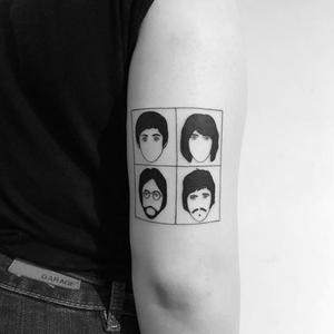 Blackwork tattoo by chinatown_stropky #portraits #blackwork #custom #linework