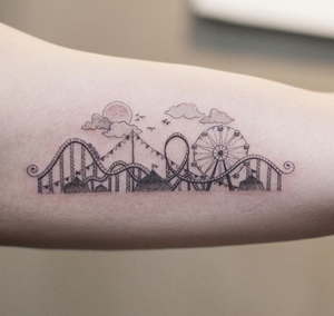Rollercoaster by graffittoo #linework #detail #graffittoo #painting #korea #drawing