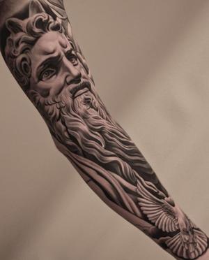 Black and grey tattoo by Jun Cha #blackandgrey #juncha