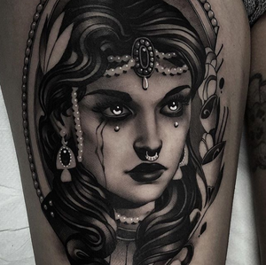 Awesome black and grey tattoo by Cristian Casas #blackandgrey