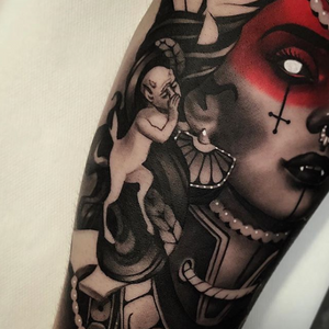 Close up. Black and grey tattoo by Cristian Casas #blackandgrey
