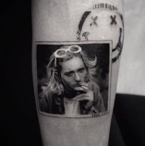 Kurt Cobain tattoo by Cold Gray Tattoo #kurtcobain #singer #cold