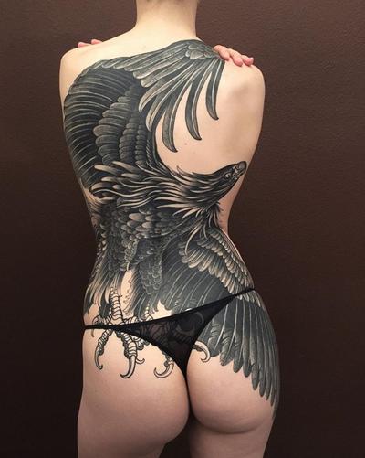 Blackwork eagle by Alexander Grim #eagle #blackwork