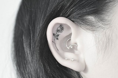 Fineline black and grey rose tattoo by Kane Navasard #singleneedle #fineline #blackandgrey #rose #rosetattoo #losangeles #forthesinners #kanenavasard
