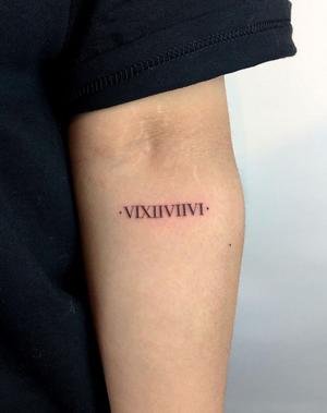- VIXIIVIIVI -  #blackwork #ink #inked #inkedup #inkedgirls #love #girlswithtattoos #london #fineline #tattooist #roman #numerals #1322tattoo #paolameyertattoo #blxckink #blackworkers