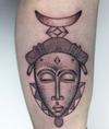• African mask • #blackwork #dotwork #inkedup #love #london #tribal #tattooist