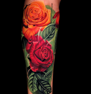 Roses cover up by Jose Guevara Morales #flower #floral #roses #rosetattoo