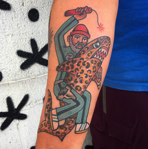 The Life Aquatic with Steve Zissou tattoo by unomaser #movieinspired #movie #traditional #lifeaquatic #stevezissou