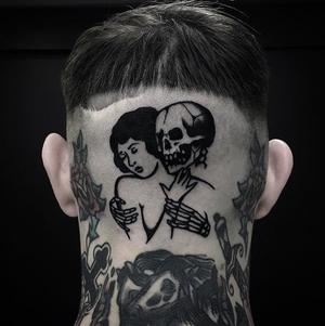 Blackwork tattoo by ignaciottd #blacktraditionals #traditionaltattoo #blackwork #truetildeath