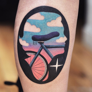 Bicycle by David Peyote #thedavidcote #davidcote #eternalink #eikondevice #hydraneedles #montrealtattoo #davidpeyote #drawing #illustration